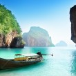 Boat on small island in Thailand — Stock Photo #23571367