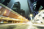 Traffic in Hong Kong at night — Photo