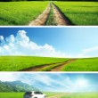 Ground roads set of banners — Stock Photo