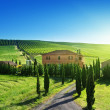 Tuscany landscape with typical farm house, Italty — Stock Photo #25110695