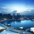 Singapore city in sunset time — Stock Photo #25465205