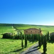 Tuscany landscape with typical farm house, Italty — Stock Photo #25465223