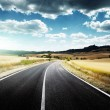 Asphalt road in Tuscany Italy — Stock Photo #25855669