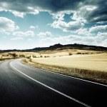 Asphalt road in Tuscany Italy — Stock Photo #25855731