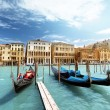 Gondolas in Venice, Italy — Stock Photo #26516861