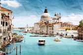 Grunge style image of Grand Canal, Venice, Italy — Stock Photo
