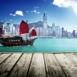 Hong kong harbour — Stockfoto