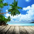 Beach of Seychelles — Stock Photo