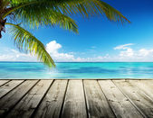 Caribbean sea and perfect sky — Foto Stock