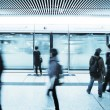 Blur people walk at subway station — Stock Photo
