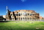 Sunset and Colosseum in Rome, Italy — ストック写真