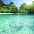 Tropical lagoon beach in Thailand — Stock Photo