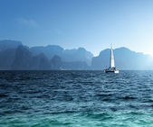 Yacht and ocean Krabi province, Thailand — Stock Photo