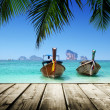 Stock Photo: Beach, boats, AndamSea, Thailand
