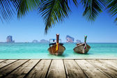 Beach, boats, Andaman Sea, Thailand — Photo
