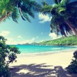 Stock Photo: Beach, Mahe island, Seychelles