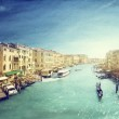 Venice canal vintage style — Stock Photo