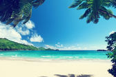 Beach Takamaka, Mahe island, Seychelles — Stock Photo