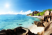 Beach Source d'Argent, la Digue island, Seychelles — Stock Photo
