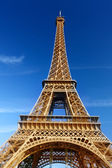 Sunny morning and Eiffel Tower, Paris, France  — Photo