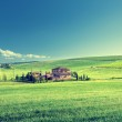 Tuscany landscape with typical farm house, Italty — Stock Photo #45360533