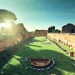 Ruins of Stadium Domitanus at the Palatine Hill in Rome, Italy  — Stock Photo #45360593