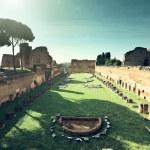 Ruins of Stadium Domitanus at the Palatine Hill in Rome, Italy  — Stock Photo #45791421