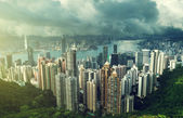 Hong Kong from Victoria Peak — Stock Photo