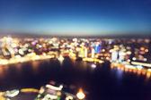 Bokeh of skyline at sunset time, Shanghai, China  — Stock Photo