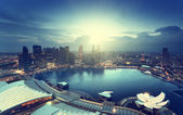 Singapore city in sunset time — Stock Photo