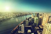 Shanghai skyline at night, China — Stock fotografie