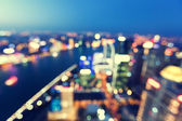 Bokeh of skyline at sunset time, Shanghai, China — Foto Stock