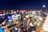 Bokeh panorama při západu slunce, šanghaj, čína — Stock fotografie