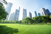 Park in  lujiazui financial center, Shanghai, China — Stockfoto