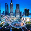 Shanghai night view from the oriental pearl tower — Stock Photo #50593377