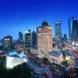 Shanghai night view from the oriental pearl tower — Stock Photo #50593413