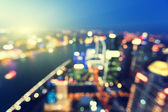 Bokeh of skyline at sunset time, Shanghai, China — 图库照片