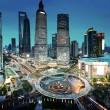 Shanghai night view from the oriental pearl tower — Stock Photo #51406377