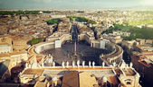 Vatican square of saint Peter — Stock Photo