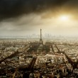 Eiffel tower in Paris and stormy sky — Stock Photo #8445052