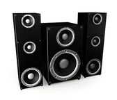 Luxury Black Sound System — Stock Photo