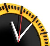 Huge Yellow Clock — Stock Photo