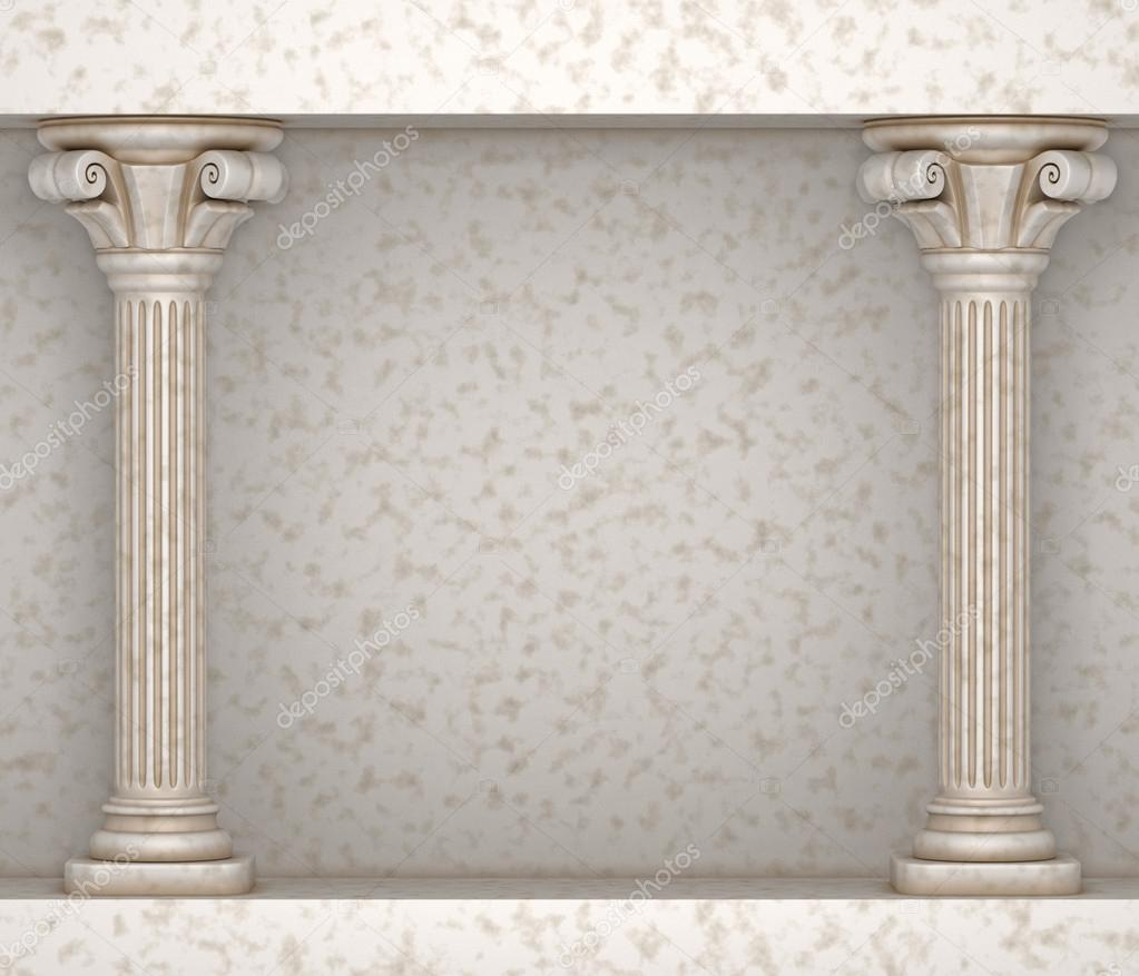 Classic Greek Pillar Background — Stock Photo © 3dbobber ...