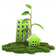 Green House on Grass — Stock Photo