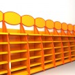 Orange Supermarket Racks — Stockfoto