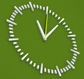 Green Abstract Clock — Stock Photo