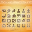 Social and medipictograms set isolated — Stock Vector #13612438