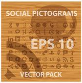Sociale en pictogrammen symbolen set — Stockvector