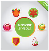 Medicinsk ikoner och symboler vector set — Stockvektor