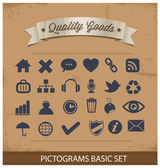 Premium and simple pictograms set — Stock Vector